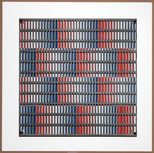 Vibration Bandes Bleus Et Rouges by Antonio Asis
