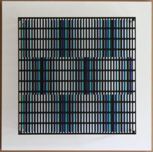 Vibration Bandes Noir, Bleu Et Turquoise by Antonio Asis