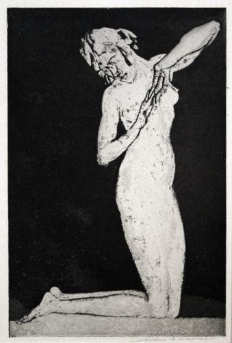 Dawn (or, Kneeling Figure) by Arthur B. Davies at