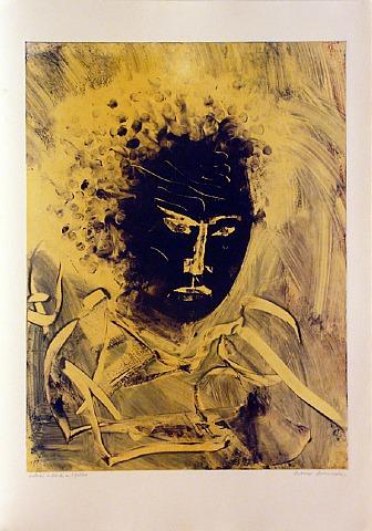 Kabuki In Black And Yellow by Arthur Secunda