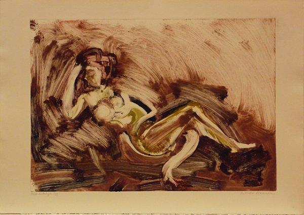 Nude Listening To Jazz by Arthur Secunda