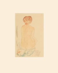 Back View Of Kneeling Woman by Auguste Rodin at