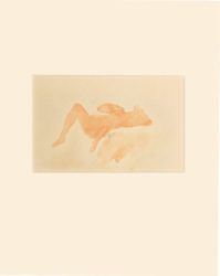 Woman Laying On Her Back by Auguste Rodin at