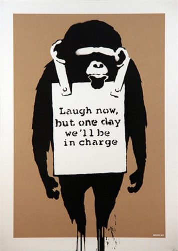 Laugh Now (unsigned) by Banksy