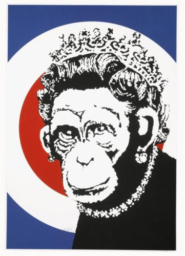 Monkey Queen (signed) by Banksy