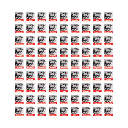 Untitled (stamps) by Barbara Kruger at Vogtle Contemporary