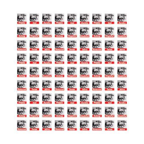 Untitled (stamps) by Barbara Kruger at