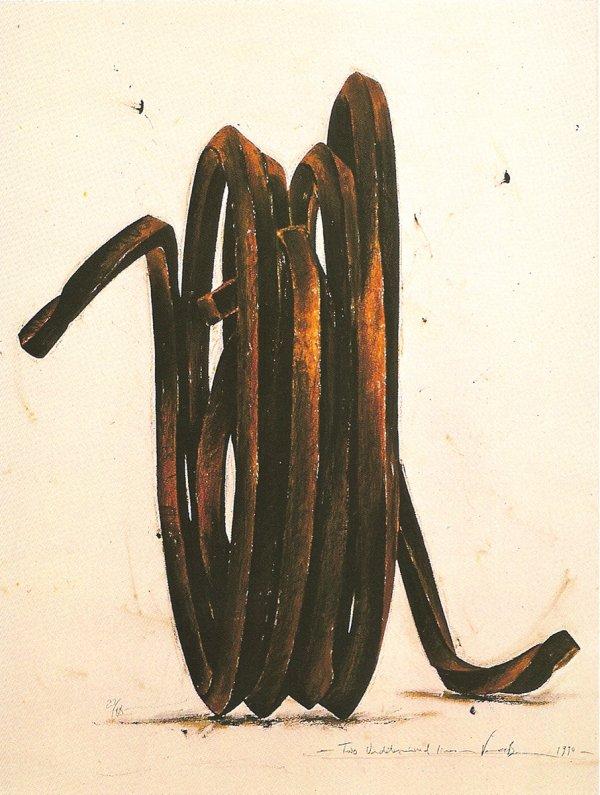 Two Undetermined Lines, 1990 by Bernar Venet
