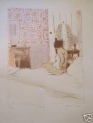 Bedroom by Bernard Dunstan at Brandler Galleries