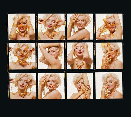 Contact Sheet by Bert Stern at