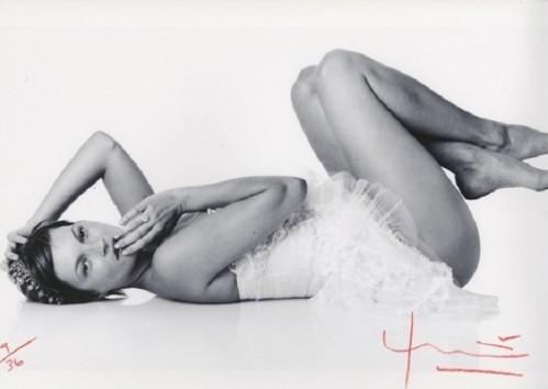 Kate Moss. Laying Down by Bert Stern