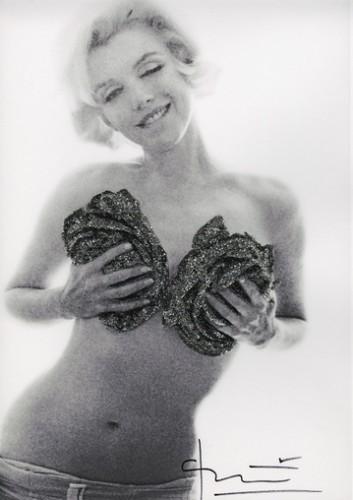 Marilyn Black Silver Wink Roses by Bert Stern