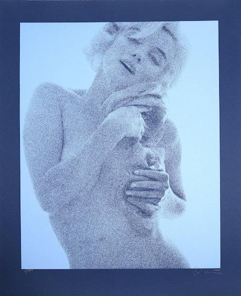 Marilyn (blue) by Bert Stern