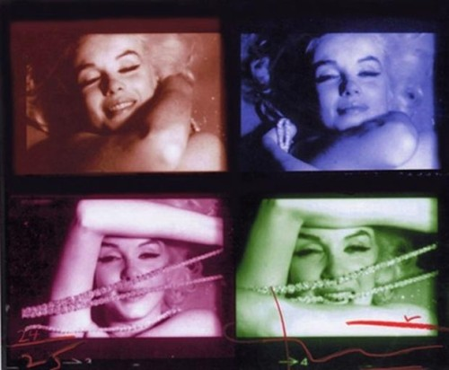 Marilyn Monroe Contact Sheet by Bert Stern