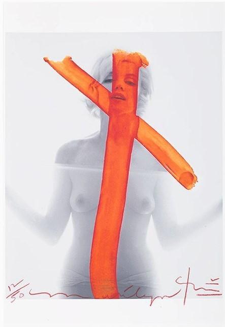Marilyn Monroe, Crucifix by Bert Stern