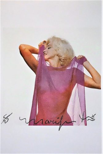 Marilyn: Pink Scarf by Bert Stern at Bert Stern