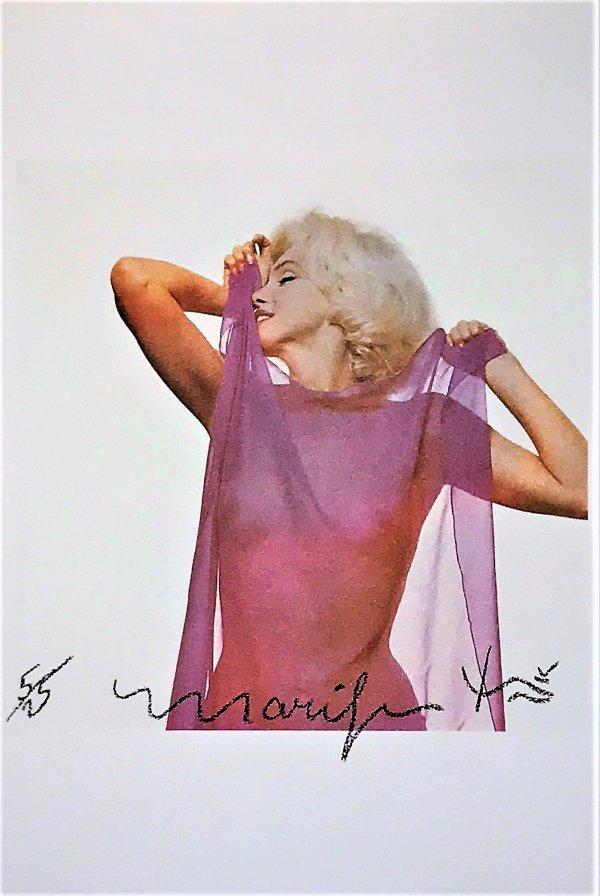 Marilyn: Pink Scarf by Bert Stern