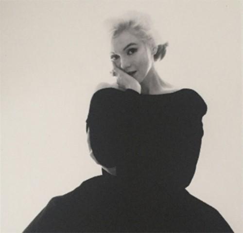 Marilyn Rare Black Dress Large by Bert Stern