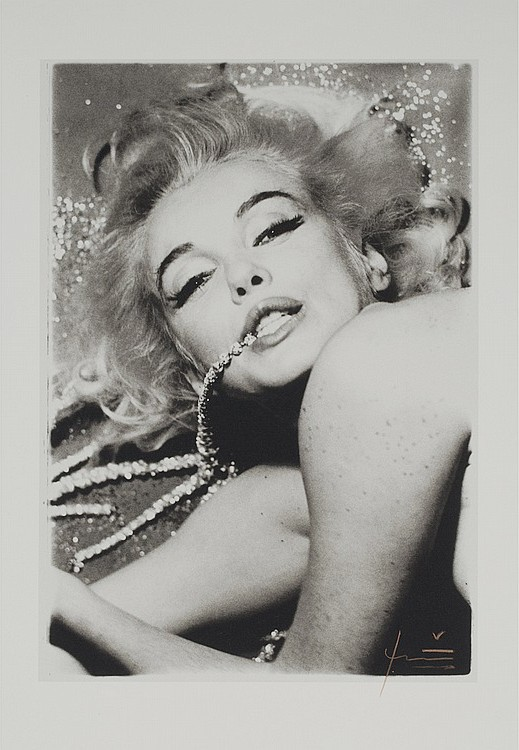 Marilyn With Jewels by Bert Stern