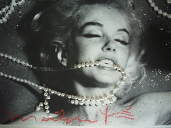 Marilyn With Pearls by Bert Stern