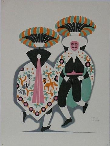 Dance of Umbrellas by Carlos Mérida
