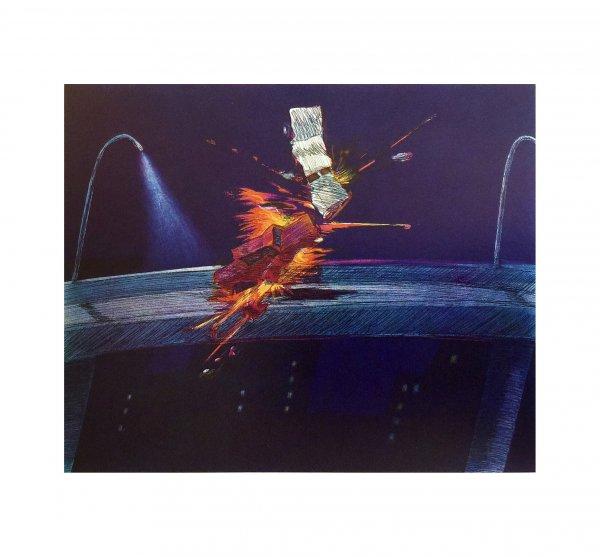 Deep Purple Crash by Carlos Almaraz