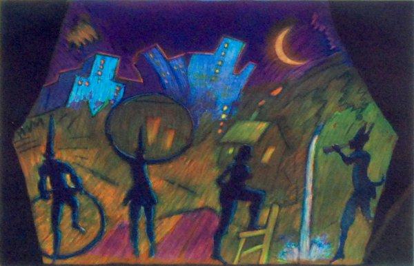 Moonlight Theater by Carlos Almaraz at Carlos Almaraz