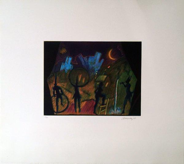 Moonlight Theater by Carlos Almaraz