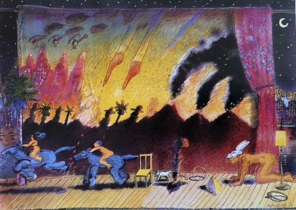 Night Theater by Carlos Almaraz