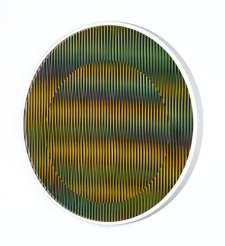 Chromointerference Manipulable Circulaire B by Carlos Cruz-Diez at www.kunzt.gallery