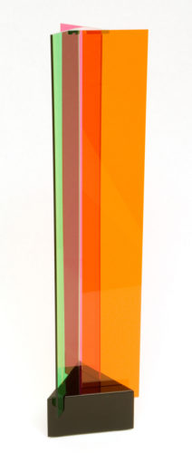Transchromie à 3 Plaques by Carlos Cruz-Diez at