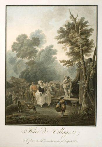 Foire De Village by Charles-Melchior Descourtis at
