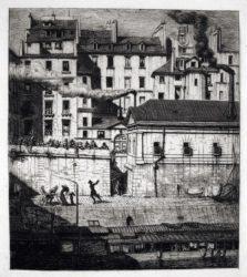 La Morgue by Charles Meryon at Harris Schrank Fine Prints (IFPDA)