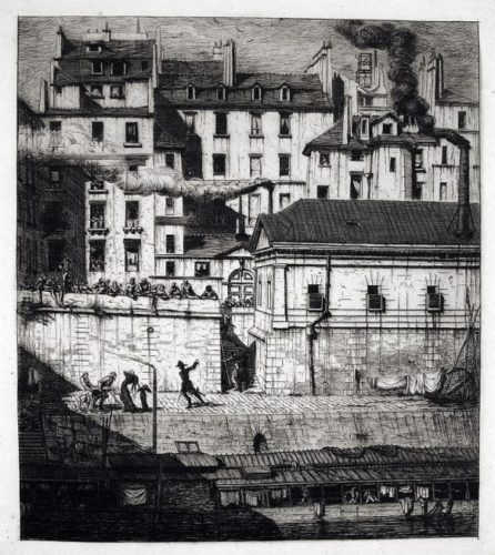 La Morgue by Charles Meryon at Harris Schrank Fine Prints (IFPDA)