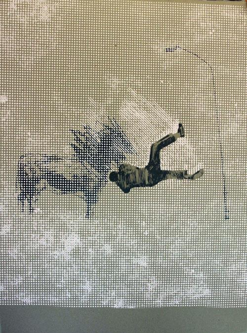 Falling Boy (grey) by Charming Baker
