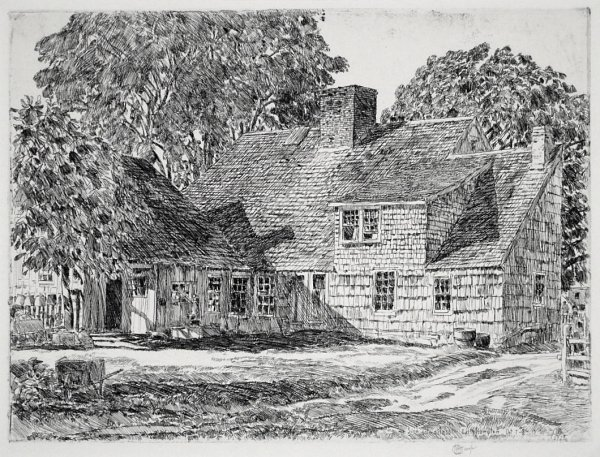 The Old Dominy House (east Hampton) by Childe Hassam