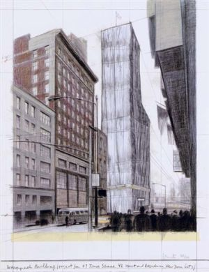 Wrapped Building (Project for #1 Times Square, 42 Street and Broadway, New York City) by Christo