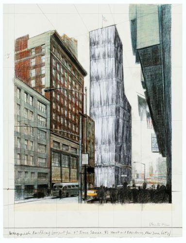 Wrapped Building, Times Square by Christo