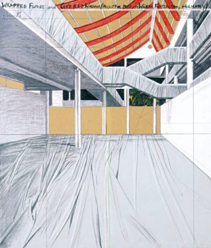 Wrapped Floors And Covered Windows, Museum Würth by Christo at www.kunzt.gallery