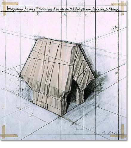 Wrapped Snoopy House by Christo at