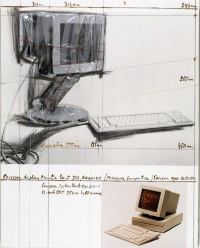 Ericsson Display Monitor Unit 3111,wrapped Project by Christo at