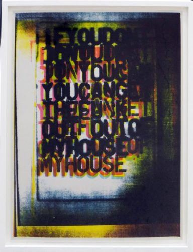 My House I by Christopher Wool at
