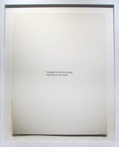 I Jumped At… by Christopher Wool at