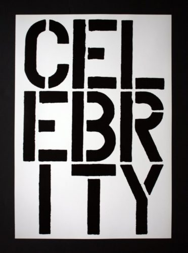 Page From Black Book (celebrity) by Christopher Wool at