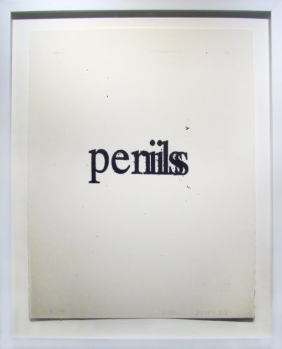 Penis Perils by Christopher Wool at
