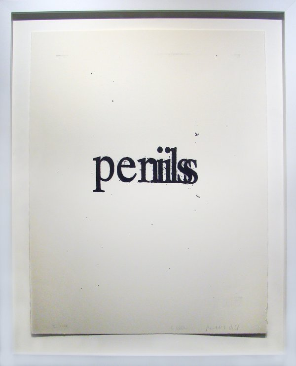Penis Perils by Christopher Wool