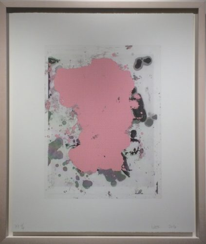 Portrait #6 (red) by Christopher Wool at