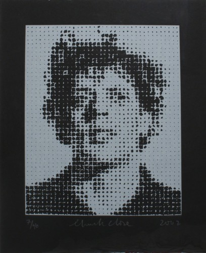 Phil (philip Glass) by Chuck Close