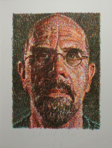 Self Portrait by Chuck Close at