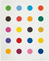 Benzyloxyurea, From 40 Woodcut Spots by Damien Hirst at Lougher Contemporary